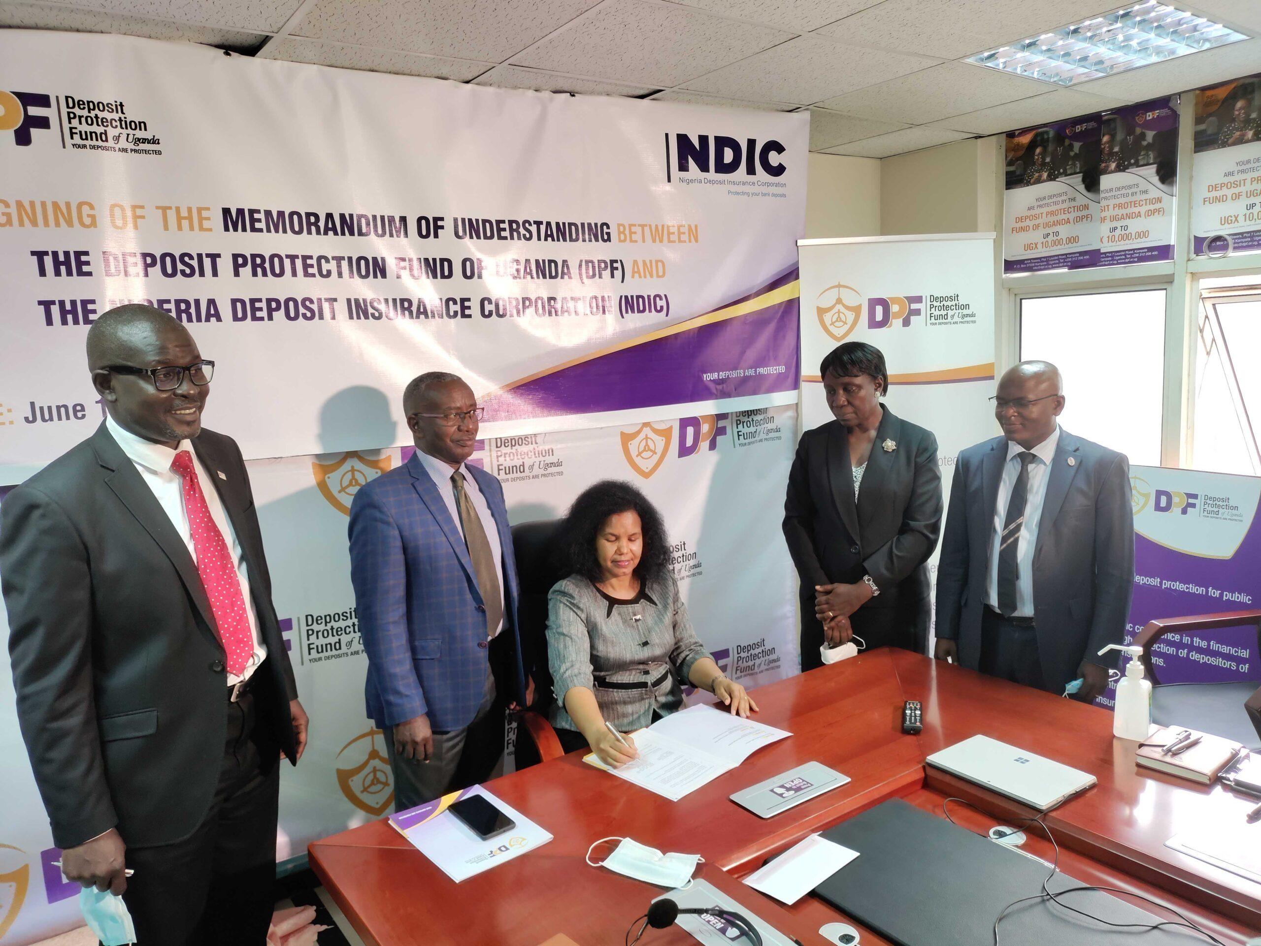MoU Signed Between Deposit Protection Fund Of Uganda (DPF) And Nigeria Deposit Insurance Corporation (NDIC)